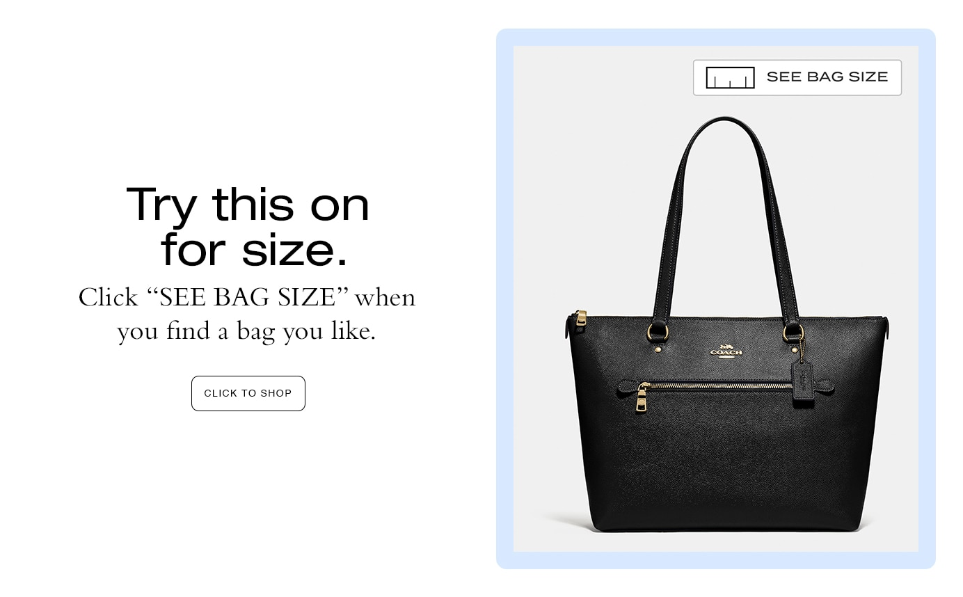 see bag size