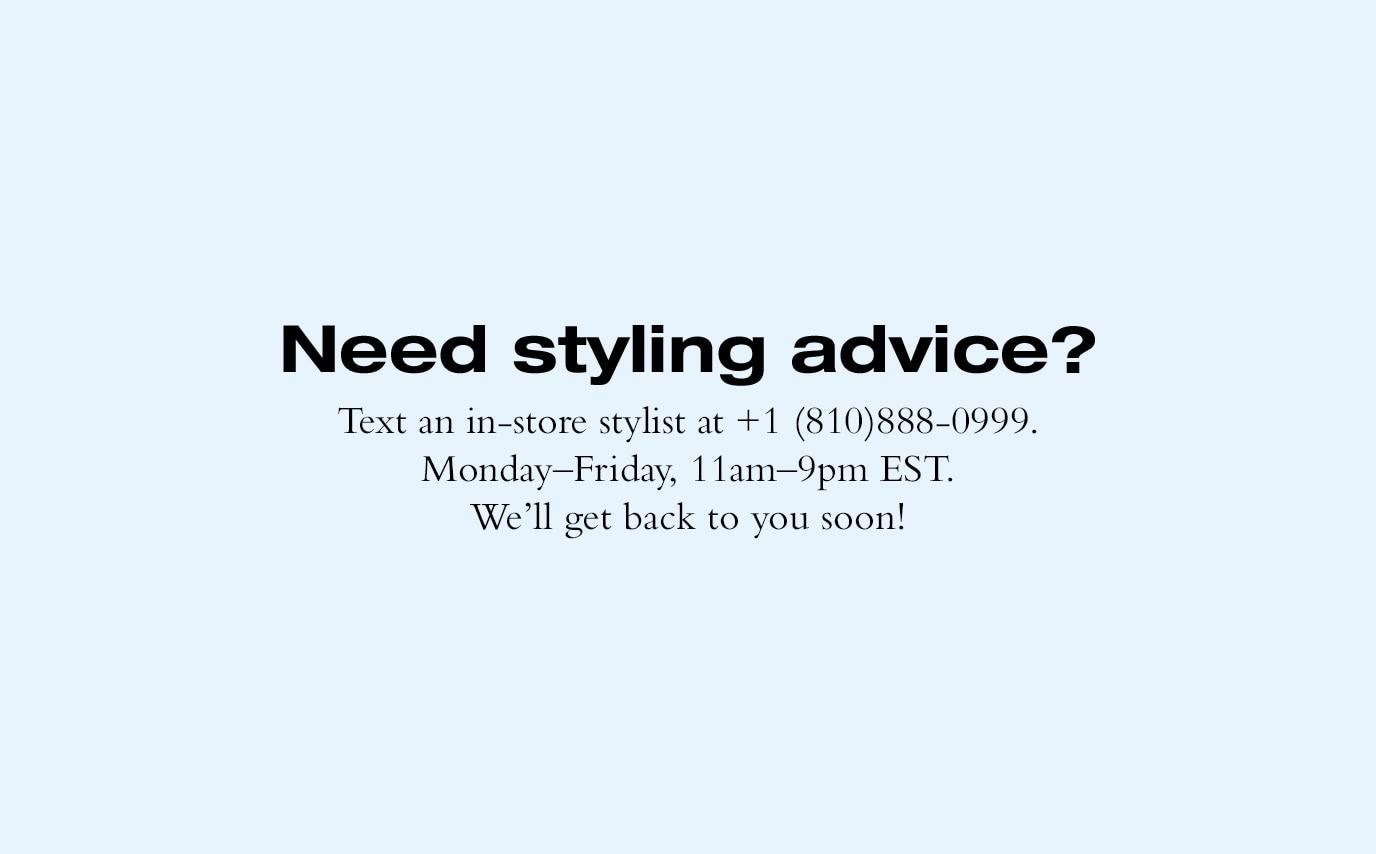 text a stylist